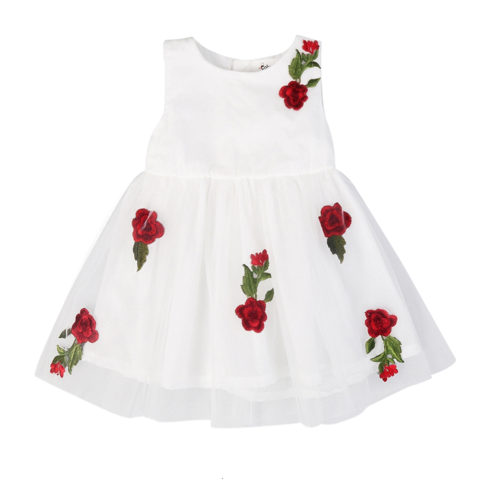 81f54fc9621bb BOBORA Baby Girls' Rose Lace Mesh Princess Tutu Dress - Shenzhen ...